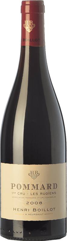 73,95 € Envío gratis | Vino tinto Domaine Henri Boillot Premier Cru Les Rugiens Crianza 2008 A.O.C. Pommard Borgoña Francia Pinot Negro Botella 75 cl