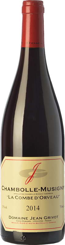 84,95 € | Red wine Domaine Jean Grivot La Combe d'Orveau Crianza A.O.C. Chambolle-Musigny Burgundy France Pinot Black Bottle 75 cl