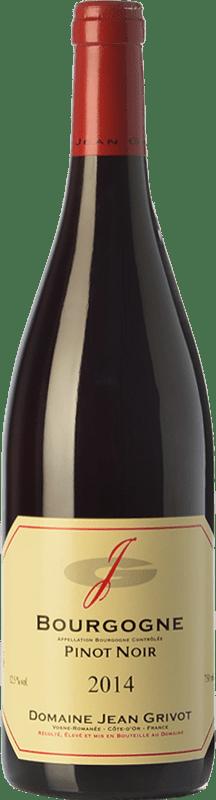 34,95 € 免费送货   红酒 Domaine Jean Grivot Crianza A.O.C. Bourgogne 勃艮第 法国 Pinot Black 瓶子 75 cl