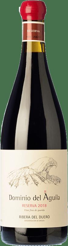 58,95 € Envío gratis | Vino tinto Dominio del Águila Reserva D.O. Ribera del Duero Castilla y León España Tempranillo, Garnacha, Bobal, Albillo Botella 75 cl