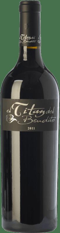 67,95 € Envío gratis | Vino tinto Dominio del Bendito El Titán Crianza D.O. Toro Castilla y León España Tinta de Toro Botella 75 cl