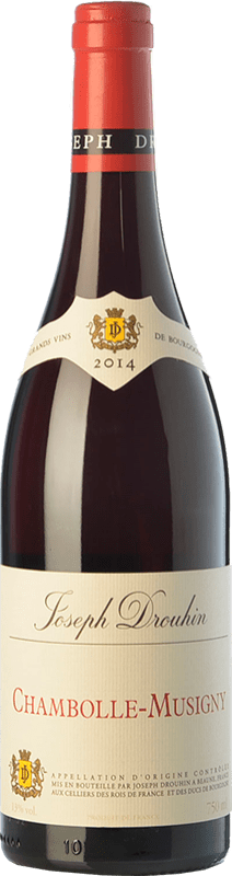 109,95 € Free Shipping | Red wine Drouhin Crianza A.O.C. Chambolle-Musigny Burgundy France Pinot Black Bottle 75 cl