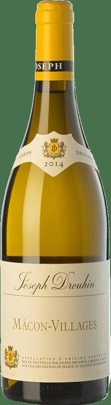 16,95 € 免费送货 | 白酒 Drouhin A.O.C. Mâcon-Villages 勃艮第 法国 Chardonnay 瓶子 75 cl