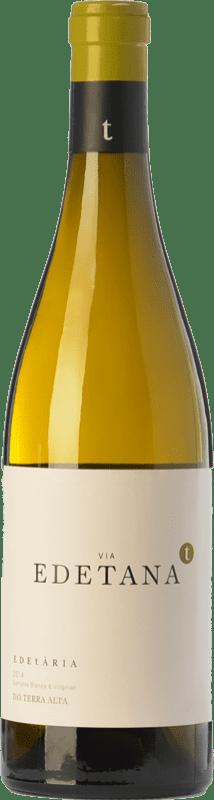 13,95 € Envío gratis | Vino blanco Edetària Via Edetana Blanc Crianza D.O. Terra Alta Cataluña España Garnacha Blanca, Viognier Botella 75 cl