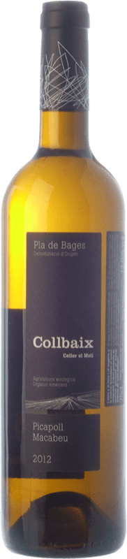 12,95 € Free Shipping | White wine El Molí Collbaix D.O. Pla de Bages Catalonia Spain Macabeo, Picapoll Bottle 75 cl