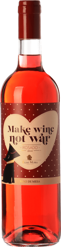 6,95 € 免费送货   玫瑰酒 Elías Mora Make Wine Not War 西班牙 Grenache, Tinta de Toro, Albillo 瓶子 75 cl