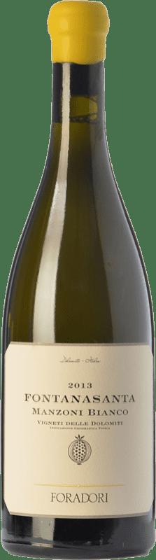 28,95 € 免费送货 | 白酒 Foradori Fontanasanta I.G.T. Vigneti delle Dolomiti 特伦蒂诺 意大利 Manzoni Bianco 瓶子 75 cl