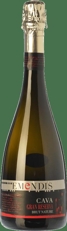 17,95 € Free Shipping | White sparkling Emendis Brut Nature Gran Reserva D.O. Cava Catalonia Spain Macabeo, Xarel·lo, Chardonnay, Parellada Bottle 75 cl