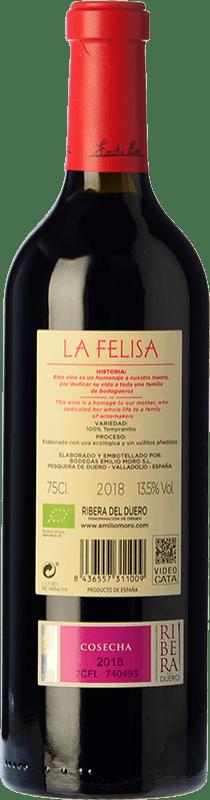 31,95 € Free Shipping | Red wine Emilio Moro La Felisa Crianza D.O. Ribera del Duero Castilla y León Spain Tempranillo Bottle 75 cl