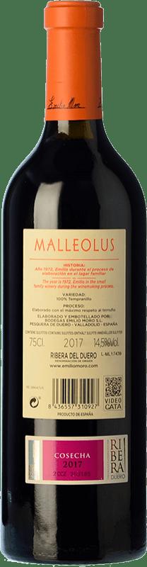 27,95 € Free Shipping | Red wine Emilio Moro Malleolus Crianza D.O. Ribera del Duero Castilla y León Spain Tempranillo Bottle 75 cl