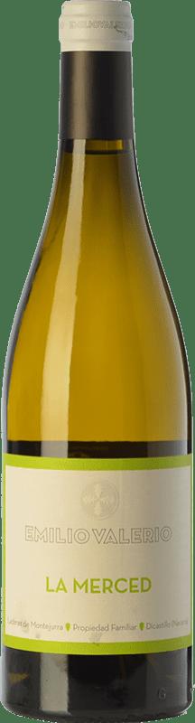 18,95 € Envío gratis | Vino blanco Emilio Valerio La Merced Crianza D.O. Navarra Navarra España Malvasía Botella 75 cl