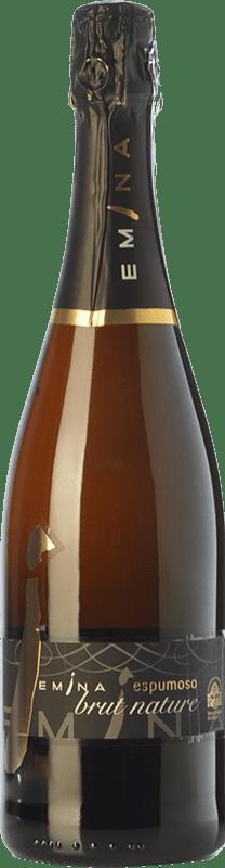 11,95 € 免费送货 | 白起泡酒 Emina Brut Nature D.O. Rueda 卡斯蒂利亚莱昂 西班牙 Verdejo 瓶子 75 cl
