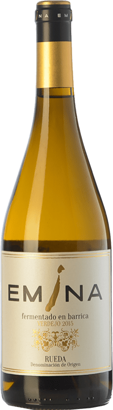 21,95 € Envoi gratuit | Vin blanc Emina Fermentado en Barrica Crianza D.O. Rueda Castille et Leon Espagne Verdejo Bouteille 75 cl