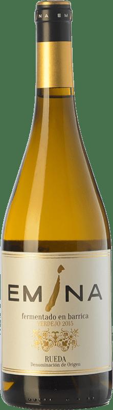 21,95 € Envío gratis | Vino blanco Emina Fermentado en Barrica Crianza D.O. Rueda Castilla y León España Verdejo Botella 75 cl