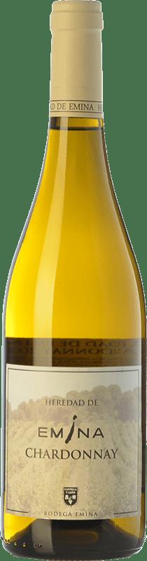6,95 € Envío gratis | Vino blanco Emina Heredad I.G.P. Vino de la Tierra de Castilla y León Castilla y León España Chardonnay Botella 75 cl