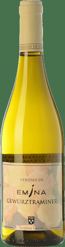 9,95 € 免费送货 | 白酒 Emina Heredad I.G.P. Vino de la Tierra de Castilla y León 卡斯蒂利亚莱昂 西班牙 Gewürztraminer 瓶子 75 cl