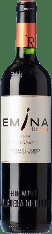 29,95 € Envío gratis | Vino tinto Emina Reserva D.O. Ribera del Duero Castilla y León España Tempranillo Botella 75 cl