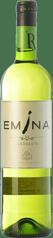 4,95 € 免费送货 | 白酒 Emina Joven D.O. Rueda 卡斯蒂利亚莱昂 西班牙 Viura, Verdejo 瓶子 75 cl