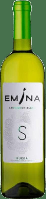 7,95 € Envío gratis | Vino blanco Emina D.O. Rueda Castilla y León España Sauvignon Blanca Botella 75 cl