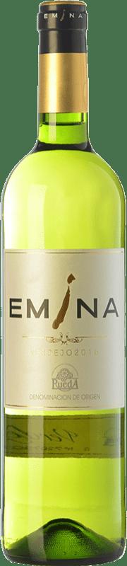 5,95 € Envío gratis | Vino blanco Emina D.O. Rueda Castilla y León España Verdejo Botella 75 cl