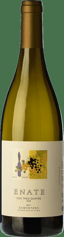 21,95 € Envío gratis | Vino blanco Enate 234 D.O. Somontano Aragón España Chardonnay Botella Mágnum 1,5 L