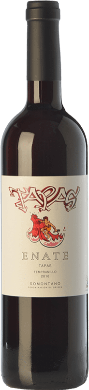 5,95 € 免费送货 | 红酒 Enate Tapas Joven D.O. Somontano 阿拉贡 西班牙 Tempranillo, Merlot, Cabernet Sauvignon 瓶子 75 cl