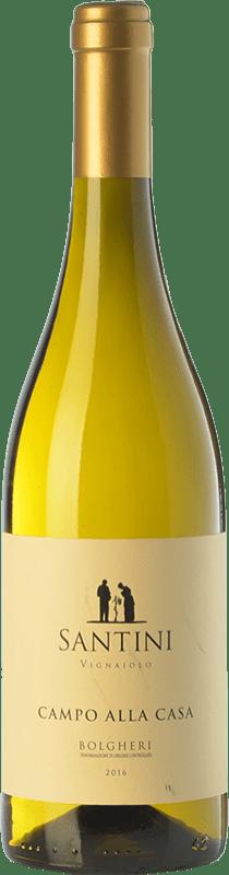 16,95 € | White wine Enrico Santini Campo alla Casa D.O.C. Bolgheri Tuscany Italy Sauvignon White, Vermentino Bottle 75 cl