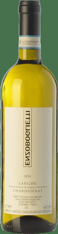13,95 € Free Shipping | White wine Enzo Boglietti D.O.C. Langhe Piemonte Italy Chardonnay Bottle 75 cl