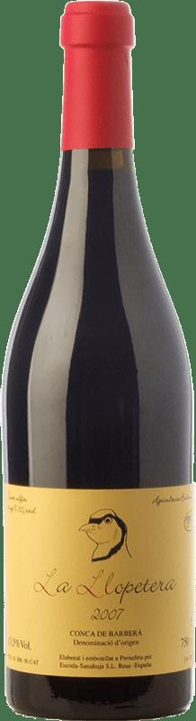 29,95 € Free Shipping | Red wine Escoda Sanahuja La Llopetera Joven D.O. Conca de Barberà Catalonia Spain Pinot Black Bottle 75 cl
