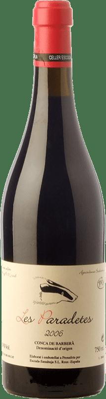 25,95 € Envío gratis | Vino tinto Escoda Sanahuja Les Paradetes Joven D.O. Conca de Barberà Cataluña España Garnacha, Samsó, Sumoll Botella 75 cl