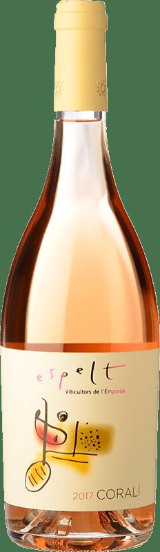 7,95 € Free Shipping | Rosé wine Espelt Coralí Rosat D.O. Empordà Catalonia Spain Merlot, Grenache, Cabernet Sauvignon Bottle 75 cl