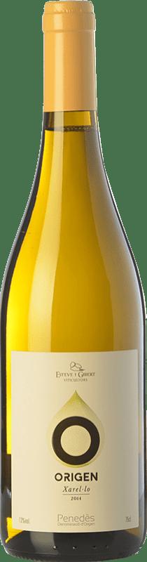 7,95 € Free Shipping | White wine Esteve i Gibert Origen D.O. Penedès Catalonia Spain Xarel·lo Bottle 75 cl