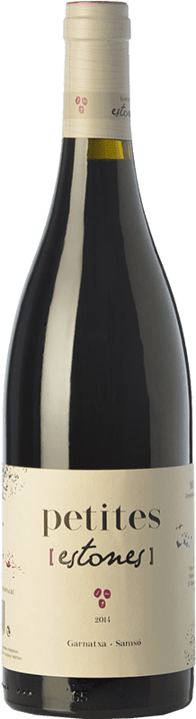 9,95 € Envío gratis | Vino tinto Estones Petites Joven D.O. Montsant Cataluña España Garnacha, Cariñena Botella 75 cl