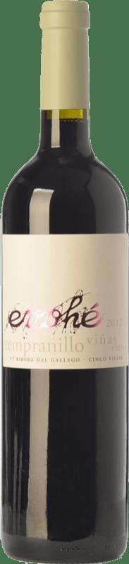 5,95 € Free Shipping | Red wine Evohé Joven I.G.P. Vino de la Tierra Bajo Aragón Aragon Spain Tempranillo Bottle 75 cl