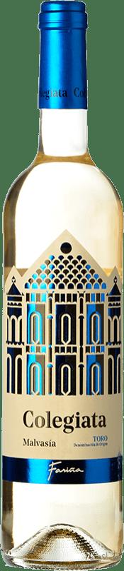 6,95 € Envío gratis | Vino blanco Fariña Colegiata Joven D.O. Toro Castilla y León España Malvasía Botella 75 cl