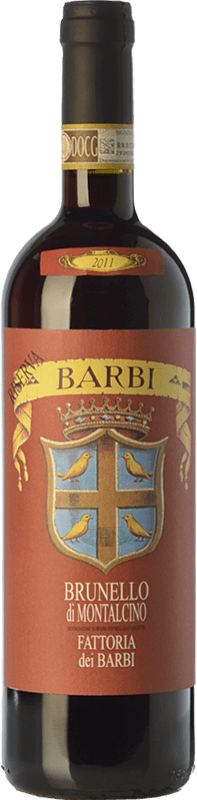 77,95 € Free Shipping | Red wine Fattoria dei Barbi Riserva Reserva D.O.C.G. Brunello di Montalcino Tuscany Italy Sangiovese Bottle 75 cl