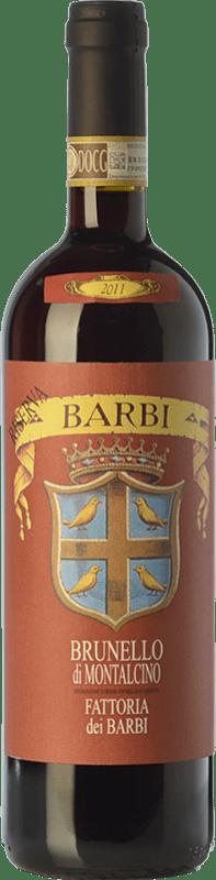 77,95 € Envío gratis | Vino tinto Fattoria dei Barbi Riserva Reserva D.O.C.G. Brunello di Montalcino Toscana Italia Sangiovese Botella 75 cl