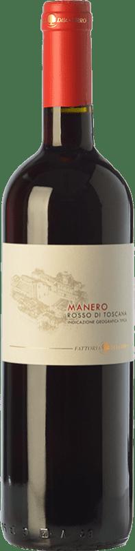 8,95 € Free Shipping | Red wine Fattoria del Cerro Manero Rosso I.G.T. Toscana Tuscany Italy Merlot, Sangiovese Bottle 75 cl
