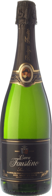 8,95 € Free Shipping | White sparkling Faustino Dry Joven D.O. Cava Catalonia Spain Macabeo, Chardonnay Bottle 75 cl
