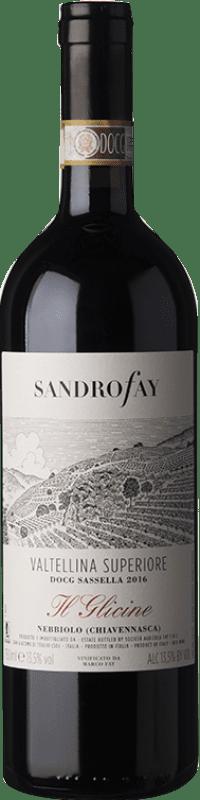35,95 € Free Shipping | Red wine Fay Sassella Il Glicine D.O.C.G. Valtellina Superiore Lombardia Italy Nebbiolo Bottle 75 cl