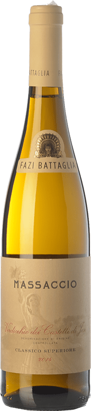 13,95 € Free Shipping | White wine Fazi Battaglia Superiore Massaccio D.O.C. Verdicchio dei Castelli di Jesi Marche Italy Verdicchio Bottle 75 cl