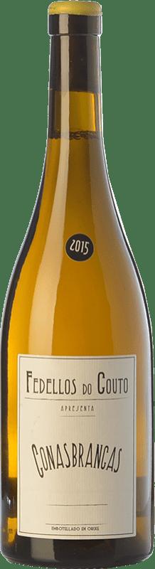 17,95 € Envío gratis | Vino blanco Fedellos do Couto Conasbrancas Crianza D.O. Ribeira Sacra Galicia España Godello, Treixadura, Doña Blanca Botella 75 cl