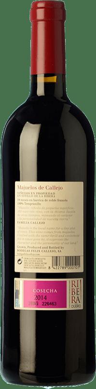 39,95 € | Red wine Callejo Majuelos Reserva D.O. Ribera del Duero Castilla y León Spain Tempranillo Bottle 75 cl