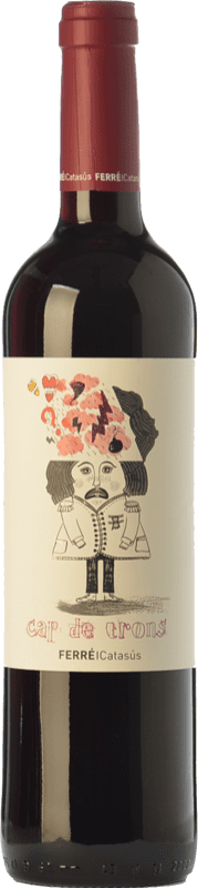 9,95 € Free Shipping | Red wine Ferré i Catasús Cap de Trons Joven D.O. Penedès Catalonia Spain Merlot, Syrah, Cabernet Sauvignon Bottle 75 cl