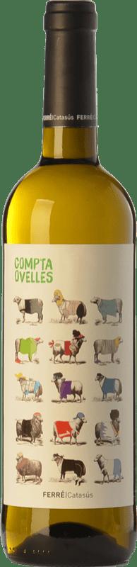 6,95 € Free Shipping | White wine Ferré i Catasús Compta Ovelles Blanc D.O. Penedès Catalonia Spain Xarel·lo, Chardonnay, Sauvignon White Bottle 75 cl