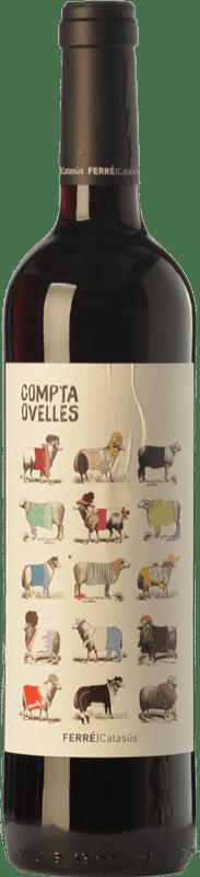 7,95 € 免费送货 | 红酒 Ferré i Catasús Compta Ovelles Negre Joven D.O. Penedès 加泰罗尼亚 西班牙 Merlot, Syrah, Cabernet Sauvignon 瓶子 75 cl