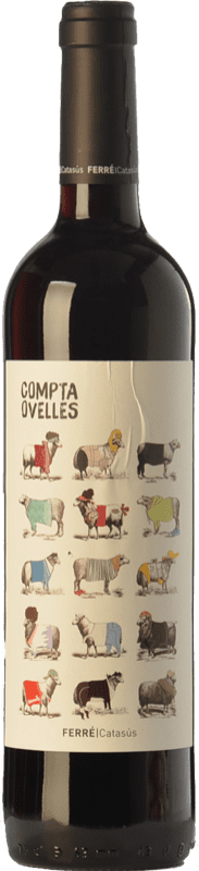 7,95 € Free Shipping | Red wine Ferré i Catasús Compta Ovelles Negre Joven D.O. Penedès Catalonia Spain Merlot, Syrah, Cabernet Sauvignon Bottle 75 cl
