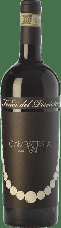 15,95 € Free Shipping | Red wine Feudi del Pisciotto Giambattista Valli D.O.C.G. Cerasuolo di Vittoria Sicily Italy Nero d'Avola, Frappato Bottle 75 cl