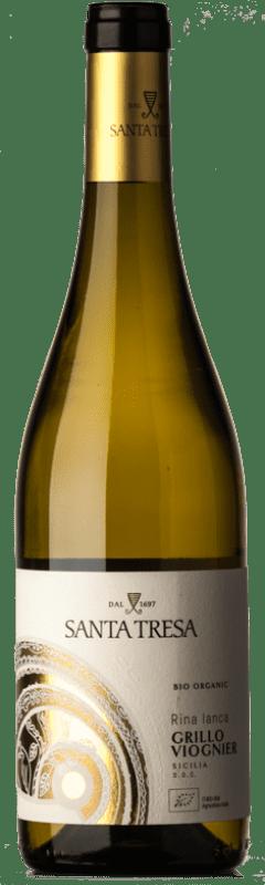 9,95 € | White wine Feudo di Santa Tresa Rina Lanca I.G.T. Terre Siciliane Sicily Italy Viognier, Grillo Bottle 75 cl