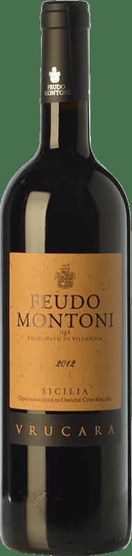 42,95 € Free Shipping | Red wine Feudo Montoni Vrucara I.G.T. Terre Siciliane Sicily Italy Nero d'Avola Bottle 75 cl